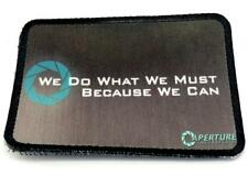 Aperture Laboratories Because We Can Cosplay Airsoft Sublimated Morale Patch