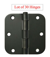"""30 Oil Rubbed Bronze 3.5""""x3.5"""" with 5/8 Radius Door Hinges Round Corner 3 1/2 in"""