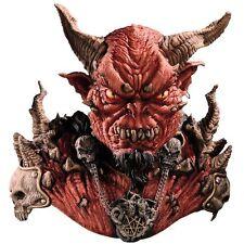 Halloween Costume EL DIABLO WITH HORNS DEVIL LATEX DELUXE MASK & SHOULDERS NEW