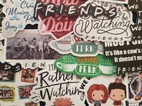 Friends Central Perk 3 Inch Wide Set of 2 Temporary Body Art Tattoo Stickers