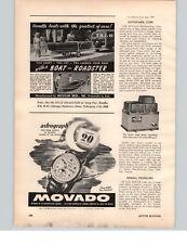 1949 PAPER AD Astrograph Movado Wrist Watch Calendar