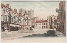 Somerset postcard - Market Place, Wells - P/U 1909