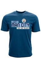"Манчестер Сити Эпл полиэстер/хлопок футболка ""небо блюз"" SM-Xxl"