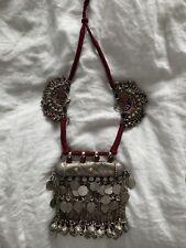 - bohemian fashion - burning man Afghani Kuchi Ethnic Tribal antique necklace