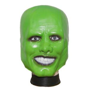 Deluxe 'The Mask' Green Mask Latex Full Head Jim Carrey Fancy Dress Mask
