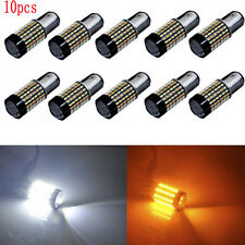 10pcs 120SMD 1157 Dual Color White Amber LED Switchback Turn Signal Light Bulbs