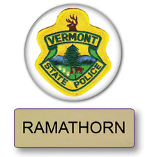 SUPER TROOPERS RAMATHORN POLICE NAME BADGE & BUTTON HALLOWEEN COSTUME PIN BACK
