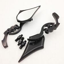 For Harley Electra Heritage Sportster Glide Black Custom Skull Blade Mirror