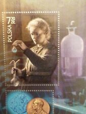 Polish stamp, Polska, mint, sheet, Marie Curie, Nobel, Chemistry