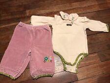 Ensemble LA COMPAGNIE DES PETITS 6 mois, pantalons et body chemise, val 50€