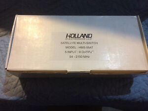 Holland Electronics Satellite Multiswitch, HMS-58AT, 5 in 8 out
