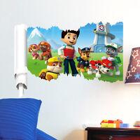 Paw Patrol Dog Cartoon Scroll Wall Sticker Vinyl Art Decal Kids Room Mural Decor
