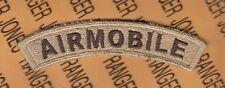 "US Army AIRMOBILE Desert DCU 4"" tab arc patch c/e"
