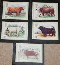 PHQ 73 Set 6/3/1984 Cattle x5 Mint Royal Mail Post Cards
