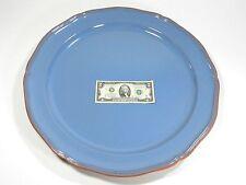 Platter Plate Blue Glazed Pottery