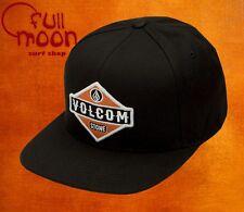 New Volcom Men's Cresticle Black Logo Snapback Cap Hat