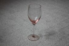 "Pink Glassware Wine Water Glasses Glass 7 3/4"" tall 2.5"" diameter opening"