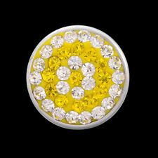 ANDANTE Kristall Druckknopf Click Button CHUNK Gelb Citrin Weiß #4274 + GESCHENK