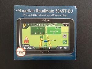 MAGELLAN RoadMate 5045T-EU GPS Set US/EU Maps Automotive Mountable SEALED READ