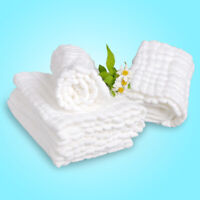 Soft Cotton Baby Infant Washcloth Bath Towel Newborn Wipe Cloth Feeding Y6V1