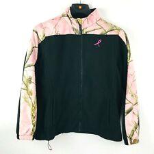 Bushmaster Realtree Womens Jacket Size Lrg Breast Cancer Pink Ribbon Camo Black