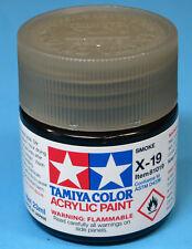Tamiya GLOSS CLEAR SMOKE  Acrylic Hobby Model Paint Acrylic X19  23ml 81019 X-19