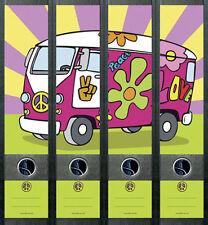 Ordnerrücken Hippie Peace Bus Platte Ordner Ordneraufkleber Aufkleber Deko 242