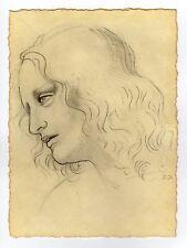 "Old Master Drawing Leonardo Da Vinci – ""PORTRAIT OF PHILIP"""