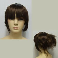 Brown Female Wig - Messy Updo