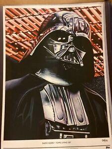 2020 Topps Star Wars Living Set #1 Darth Vader Fine Art Print 10x14 #d 43/100