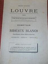 catalogue le Louvre - rideaux - couvre lits - année 1908 ( ref 21 )