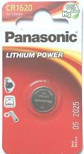 Panasonic Lithium-Based Single Use CR1620 Batteries