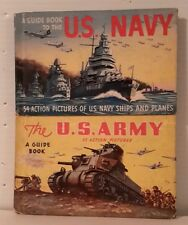 1940s WW2 Small Hardcover Book Set of 2-Army & Navy Insignia-FREE S&H(M3498)