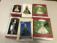 Hallmark Keepsake Ornament - Holiday Collector's Series BARBIE - LOT OF 6 USED