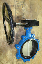 """8"""" Industrial Valco Lug Butterfly Valve, Gear Op, Stainless Disc"""