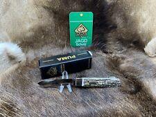 """2020 Puma 0111 Jagdtaschenmesser I Hunting Knife Stag Handles Mint Puma Box """"A1"""""""