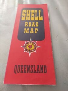 Mint 1957 Shell Road Map of Queensland Early Red Shell Clam Logo