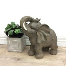 Statue Baby Elephant Ornament Sculpture Figurine Home Garden Feature Display