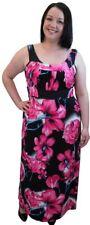 New Ladies Womens Plus Size Tie Back Floral Print Summer Maxi Dress Size 14-28