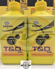 2 Litri OLIO TRASMISSIONE CAMBIO DIFFERENZIALE BARDAHL T&D OIL 85W140 GL-4 GL-5