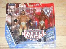 2015 WWF WWE Mattel Darren Young Titus O'Neil Battle Pack Wrestling Figures MIP
