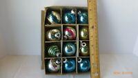 Vintage Premier Glass Works Christmas Tree 12 Ornaments Original Box Collectible