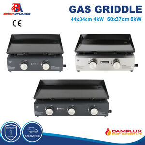 Camplux 2 3 Burners LPG Gas Griddle Plancha Grill Cooking HotPlate Outdoor Grill