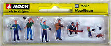 NOCH 1/87 HO 15887 Modellers RC Airplane Flyer Figure & Accessories Set of 6