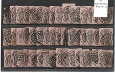 España. Conjunto de 48 sellos de 1 Onza usado. Edifil nº 35