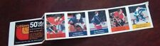 Loblaws / Save Easy NHL action players 1974-75 5 unused stamps Jean Ratelle +4