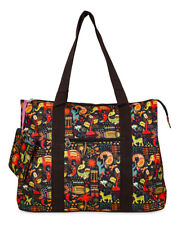 Jenzys Womens Ethnic Jungle Large Shoulder Tote Bag for Travel Shopping Gym