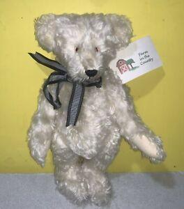 """100% German Mohair Teddy Bear 14"""" OOAK Named Snowflake Jointed Plush"""