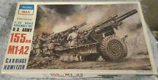 Peerless 1:35 US Army 155mm M1-A2 Carriage Howitzer Model Kit #3502U X2
