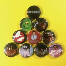 "Ghostbusters 1"" Button Pin Set Comedy Scary Classic Bill Murray Dan Aykroyd"